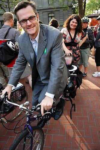 Sam on Bike